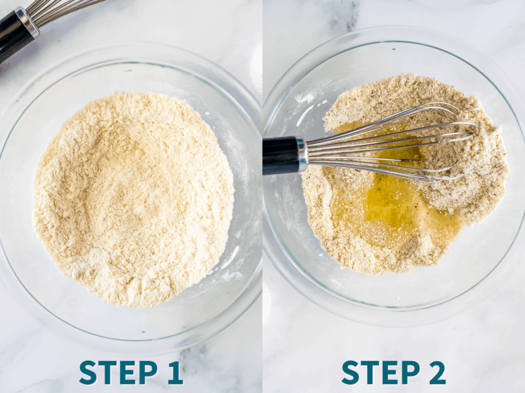 Step by step instructions for Nut Free Keto Rolls