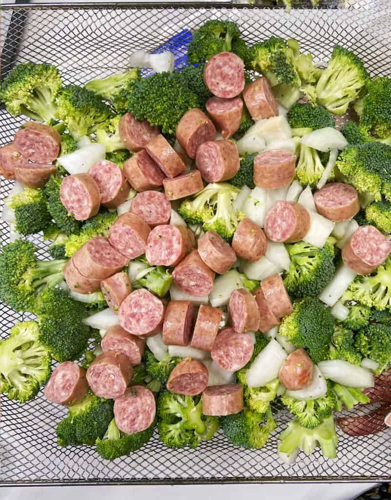 air fryer broccoli dinner